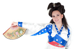 Portrait Of Geisha Stock Image