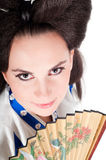 Portrait Of Geisha Stock Photo