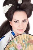 Portrait Of Geisha Royalty Free Stock Image