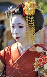 Portrait of a geisha Royalty Free Stock Photo
