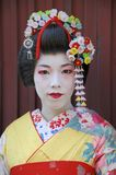Portrait of a geisha Stock Photos
