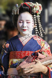 Portrait of a geisha Royalty Free Stock Image