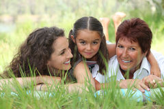 Portrait of 3 generations Stock Images