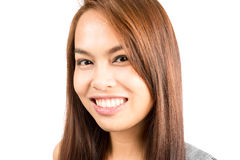 Portrait Genuine Real Asian Girl Smiling Headshot Royalty Free Stock Image