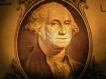 Portrait of George Washington. A portrait of George Washington from a one dollar bill Stock Image