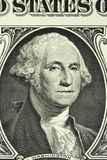 A portrait of George Washington on the banknote in one American dollar Stock Photo