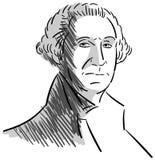 Portrait of George Washington isolated Royalty Free Stock Image