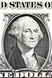 Portrait of George Washington on one dollar banknote Stock Image