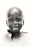 A portrait of a Ghanaian boy Stock Photography