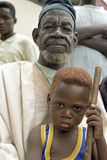 Portrait of Ghanaian grandfather and grandchild Royalty Free Stock Photography