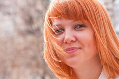 Portrait of a ginger-haired woman Royalty Free Stock Photography