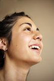 Portrait of a gipsy girl laughing Stock Images