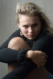 Portrait of the girl. In studio royalty free stock photography