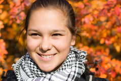 Portrait of girl. The photo is made in October 2009 stock photography