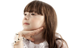 Portrait of the girl stock photography