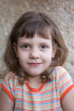 Portrait of a girl. Portrait of a beautiful child, the girl is 5 years old Royalty Free Stock Photo