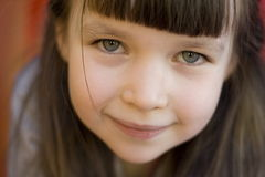 Portrait of a girl. Looking girl royalty free stock photo