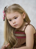 Portrait of the girl 6. Vertical portrait of a little girl 6 Royalty Free Stock Photography