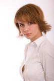Portrait of a girl. Studio portrait of the beautiful girl stock photos