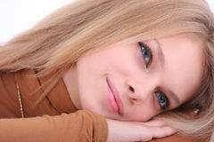 The portrait of the girl Stock Images