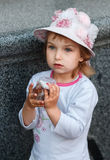 Portrait of the girl. Portrait of the girl against a granite wall Stock Photography