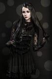Portrait of girl-alien Stock Photos