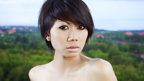 Portrait of a girl of Asian appearance,  Stock Photography