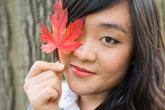 Portrait of girl during autumn Stock Photo