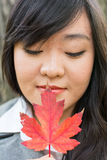 Portrait of girl during autumn Royalty Free Stock Photos