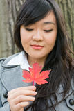 Portrait of girl during autumn Royalty Free Stock Images