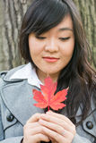 Portrait of girl during autumn Royalty Free Stock Image