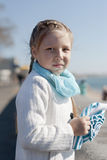Portrait of a girl autumn day Stock Photography