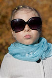 Portrait of a girl autumn day Royalty Free Stock Photo