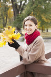 Portrait of the girl in autumn Royalty Free Stock Photography