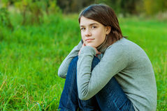Portrait of girl in autumn Stock Photography