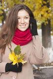 Portrait of the girl in autumn Royalty Free Stock Images