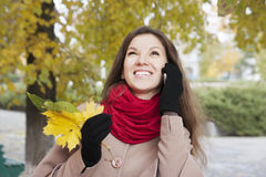 Portrait of the girl in autumn Royalty Free Stock Photo