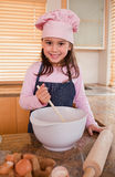Portrait of a girl baking Stock Photography