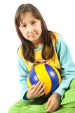 Portrait of the girl with a ball Royalty Free Stock Photography