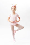 Portrait of girl ballerina Stock Photos