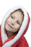 Portrait of girl in a bathrobe Stock Photo