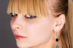 Girl with beautiful bangs Royalty Free Stock Image