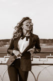 Portrait of a girl. Portrait of a beautiful business woman Royalty Free Stock Photos