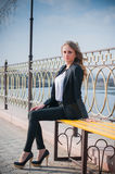 Portrait of a girl. Portrait of a beautiful business woman Stock Photography