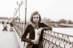 Portrait of a girl. Portrait of a beautiful business woman Royalty Free Stock Image