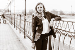 Portrait of a girl. Portrait of a beautiful business woman Royalty Free Stock Photo