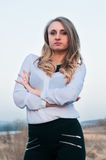 Portrait of a girl. Portrait of a beautiful business woman Stock Images