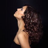 Portrait of a girl with beautiful curly hair Stock Photo
