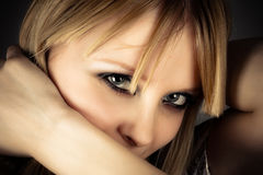 girl with beautiful eyes Stock Images