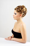 Portrait of a girl with beautiful hairstyle Stock Photography